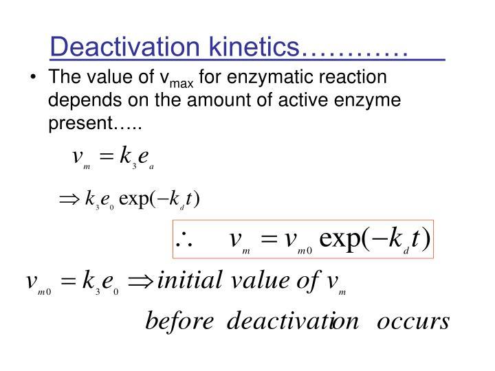 Deactivation kinetics…………