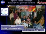 spitzer space telescope research program for teachers