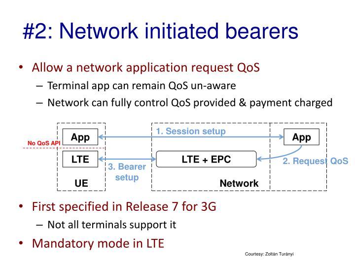 #2: Network initiated bearers