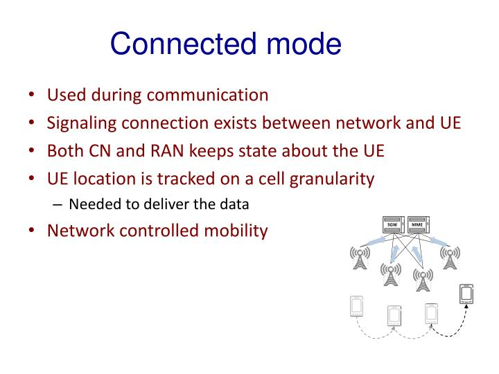 Connected mode