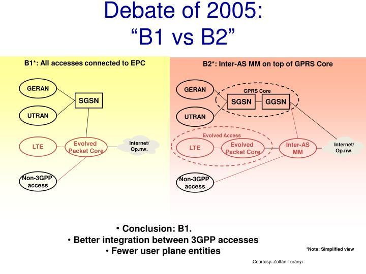 Debate of 2005: