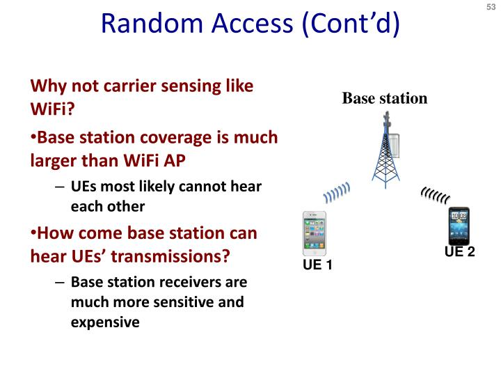 Random Access (Cont
