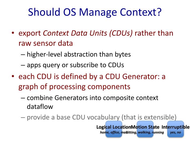 Should OS Manage Context?