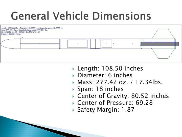 General Vehicle Dimensions