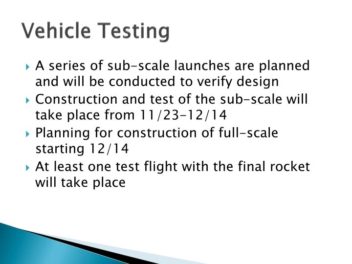 Vehicle Testing