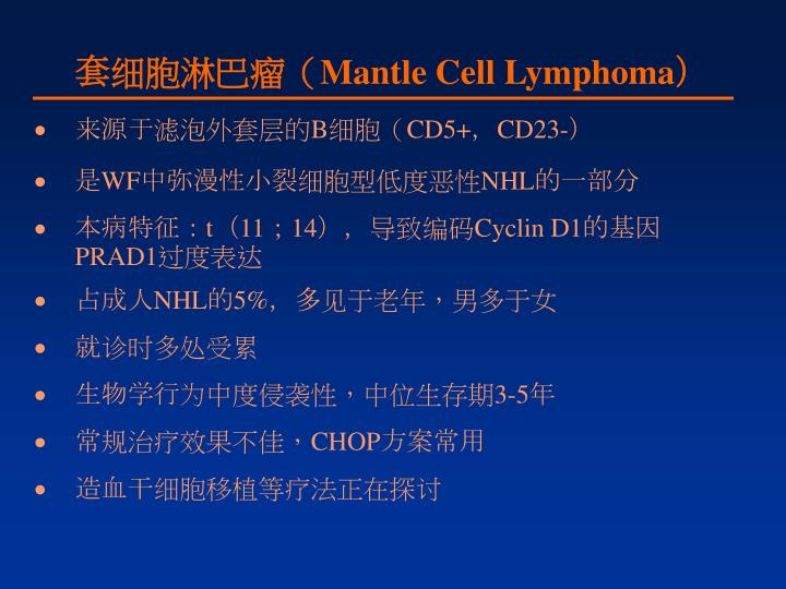 套细胞淋巴瘤(