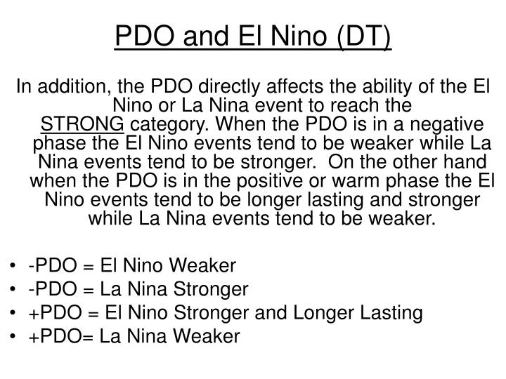 PDO and El Nino (DT)
