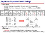 impact on system level design