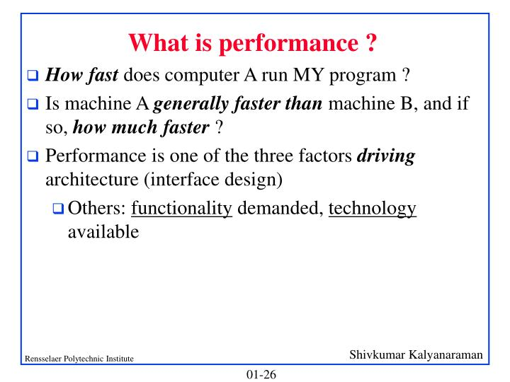 What is performance ?