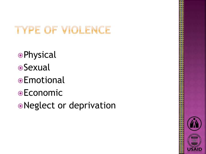 Type of violence