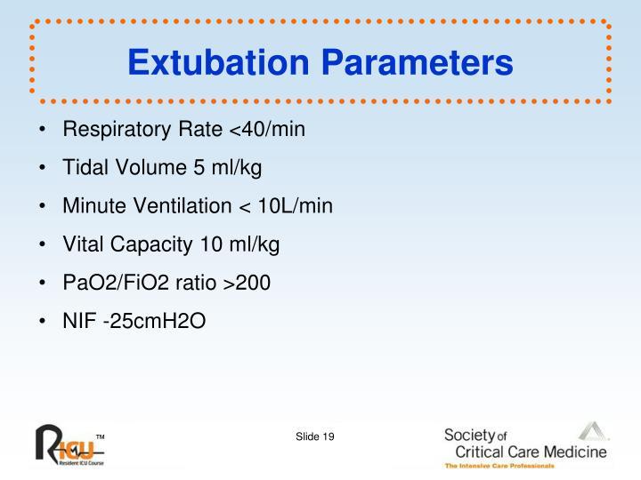 Extubation Parameters