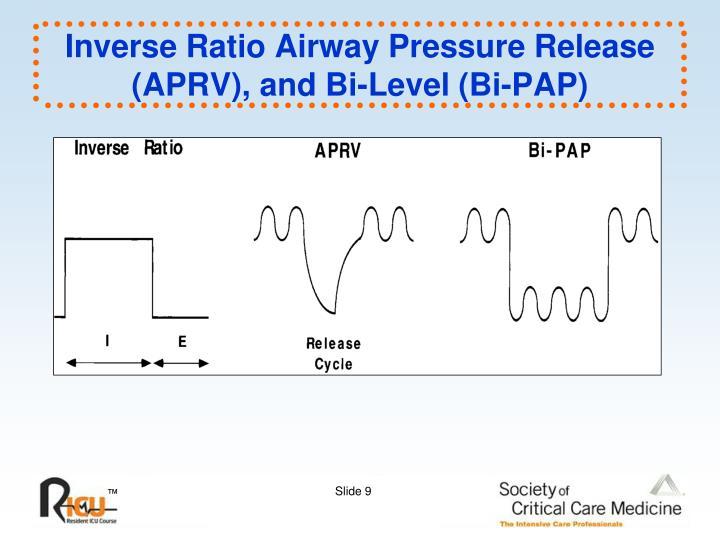 Inverse Ratio Airway Pressure Release (APRV), and Bi-Level (Bi-PAP)