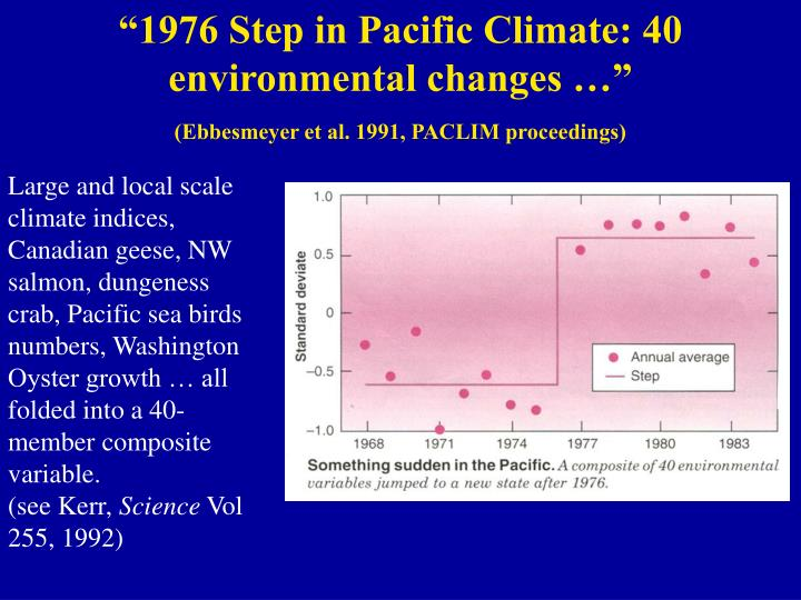 """""""1976 Step in Pacific Climate: 40 environmental changes …"""""""