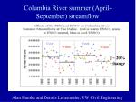 columbia river summer april september streamflow
