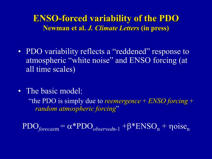 ENSO-forced variability of the PDO