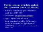 pacific salmon catch data analysis hare mantua and francis 1999 fisheries