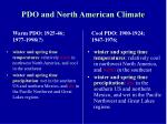 pdo and north american climate