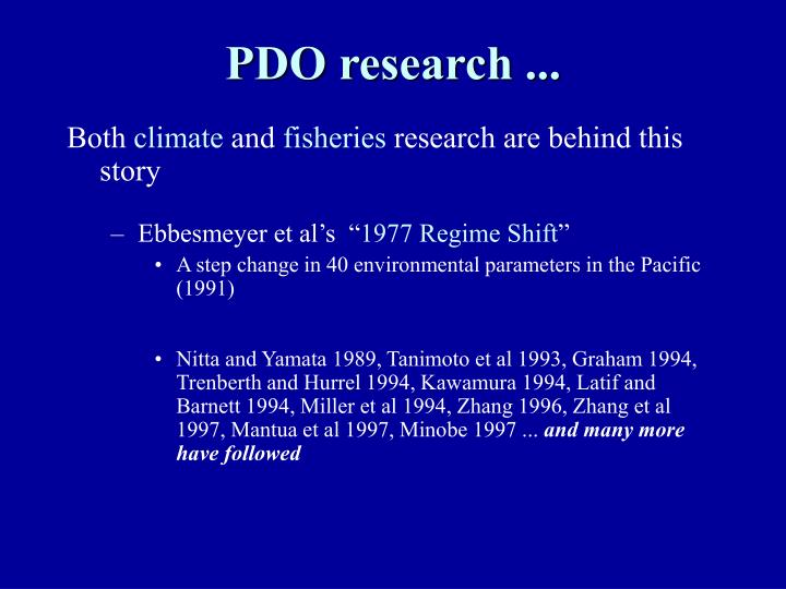 PDO research ...