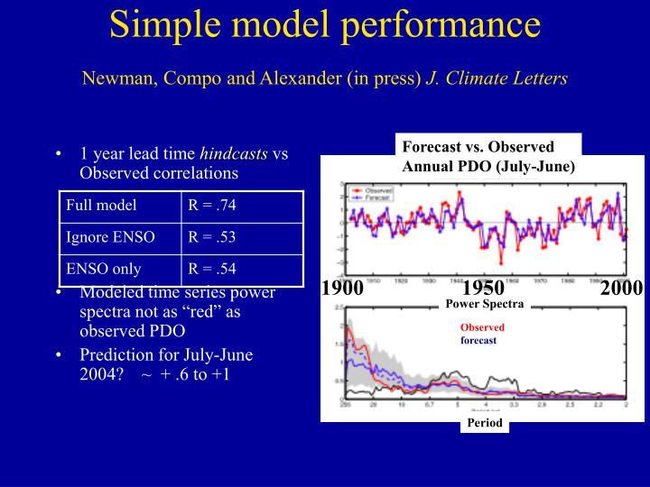 Simple model performance