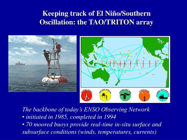 Keeping track of El Niño/Southern Oscillation: the TAO/TRITON array