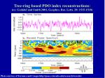 tree ring based pdo index reconstructions ex gedalof and smith 2001 geophys res letts 28 1515 1518