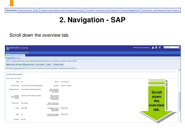 2. Navigation - SAP