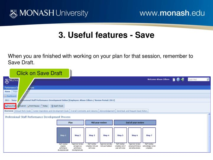 3. Useful features - Save
