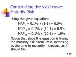 constructing the yield curve maturity risk1