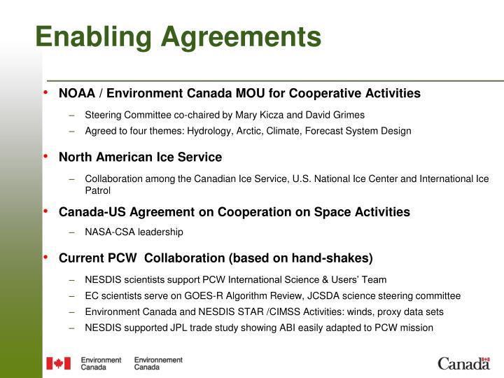 Enabling Agreements