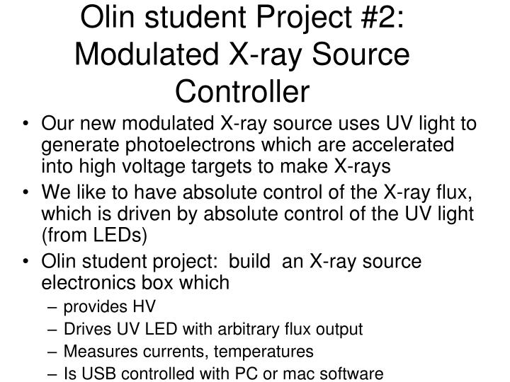 Olin student Project #2: Modulated X-ray Source Controller
