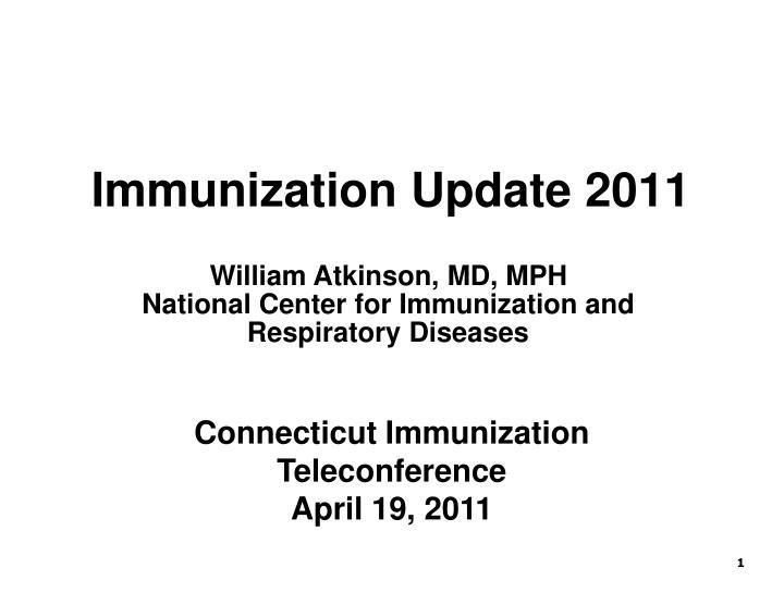 Immunization Update 2011