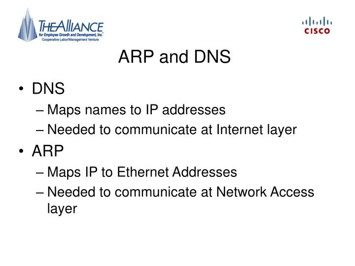 ARP and DNS