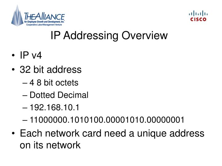 IP Addressing Overview