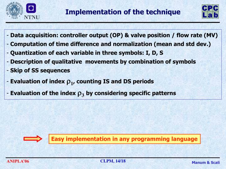 Easy implementation in any programming language