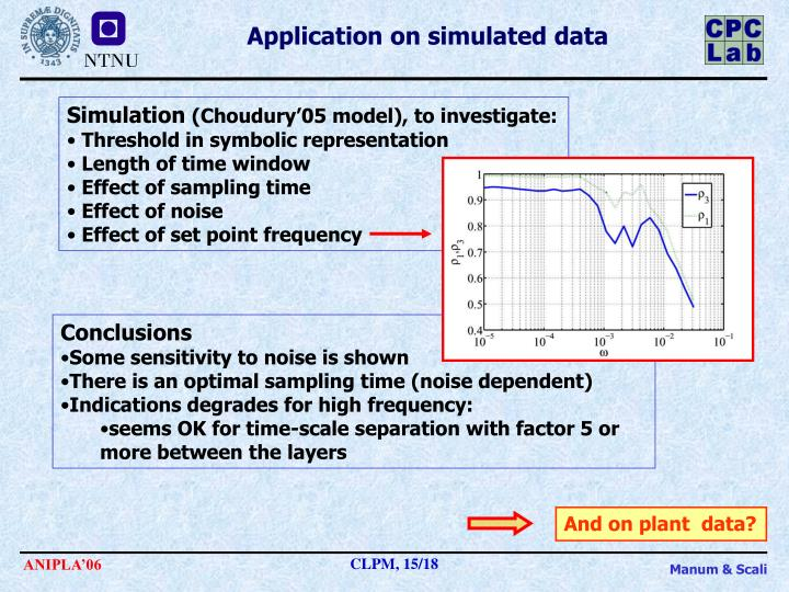 Application on simulated data