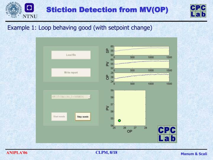 Stiction Detection from MV(OP)