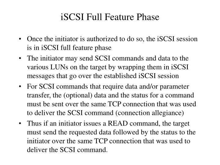 iSCSI Full Feature Phase