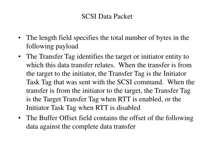 SCSI Data Packet