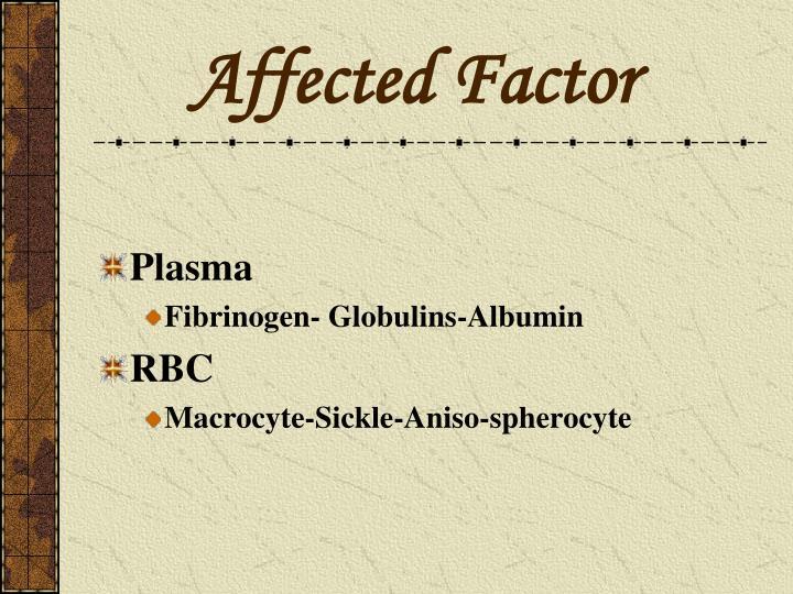 Affected Factor