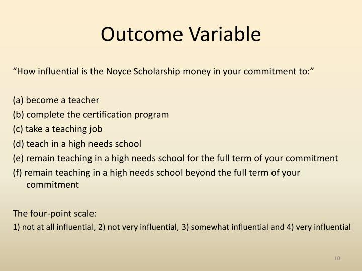 Outcome Variable