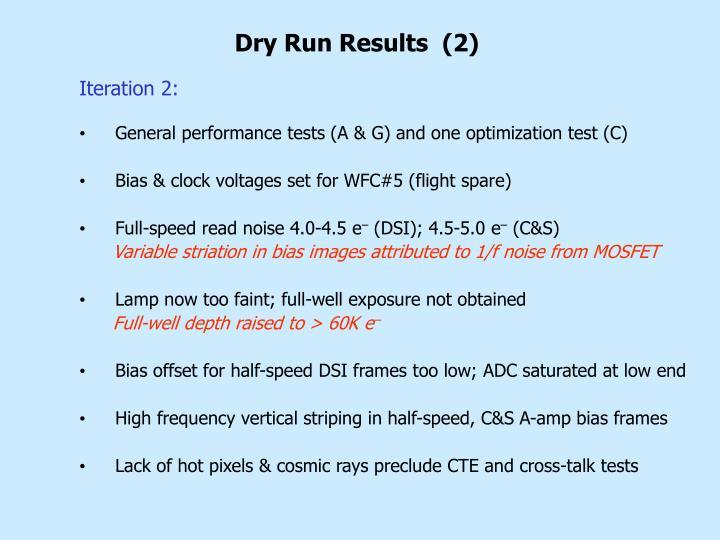 Dry Run Results  (2)
