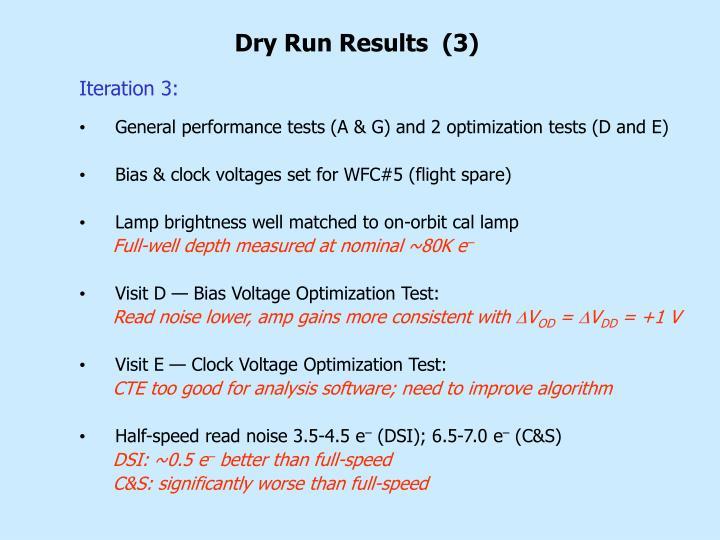 Dry Run Results  (3)