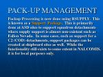pack up management