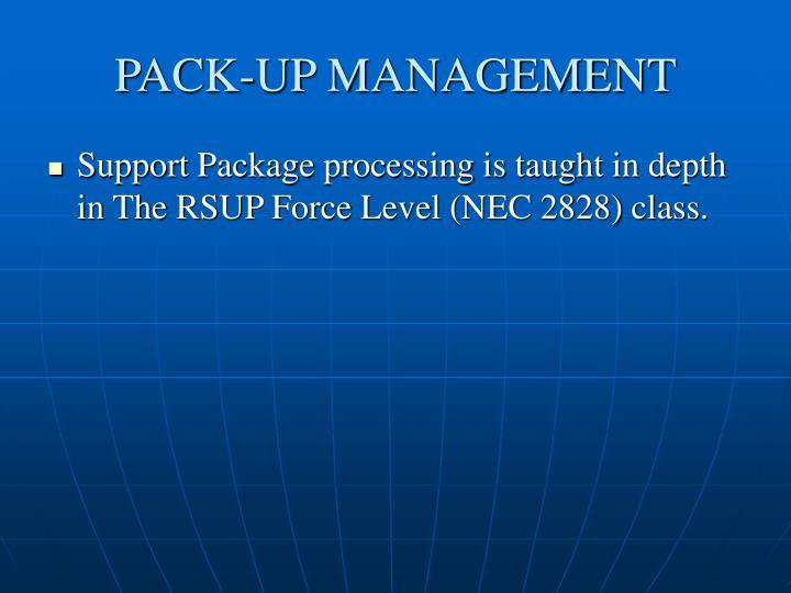 PACK-UP MANAGEMENT