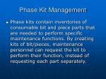phase kit management1
