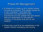 phase kit management2