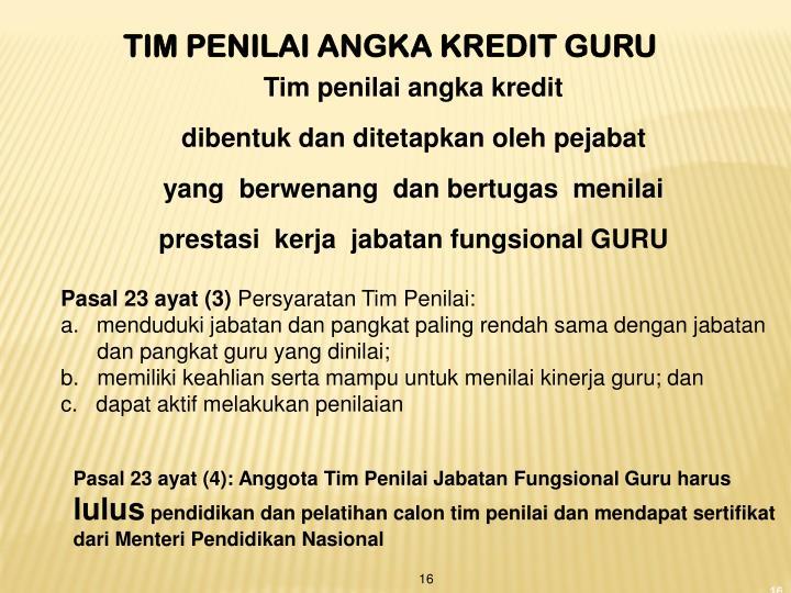 TIM PENILAI ANGKA KREDIT GURU
