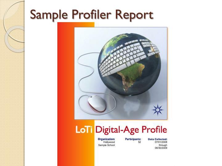 Sample Profiler Report
