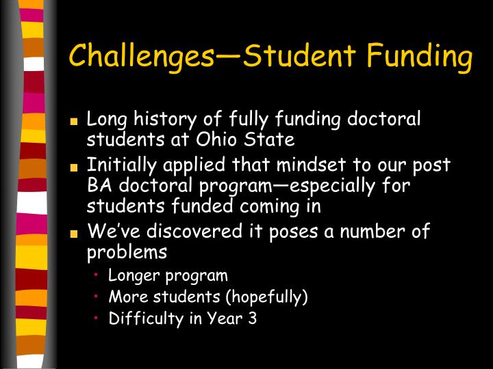 Challenges—Student Funding