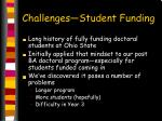 challenges student funding